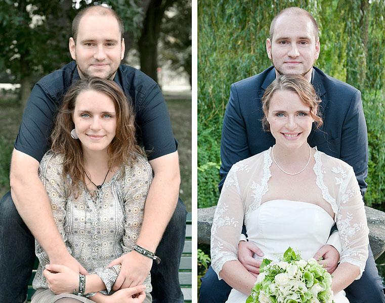 Romantische  Witzige Hochzeitsfotos  Grten der Welt Berlin