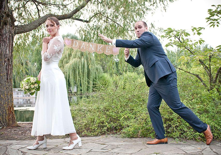 Witzige Hochzeitsfotos
