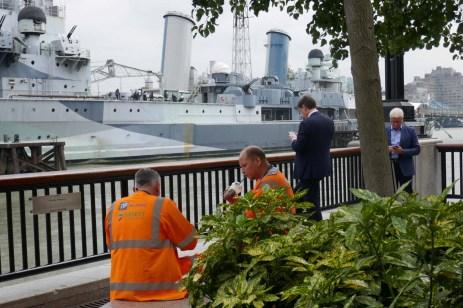 lunch break mit Blick auf H.M.S. Belfast