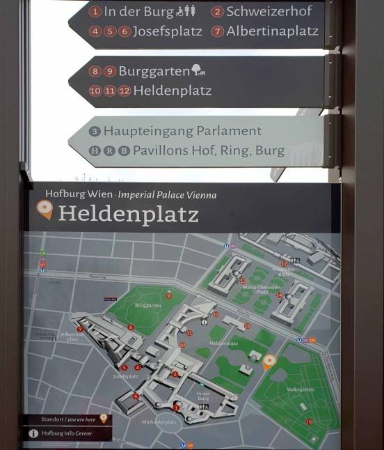 Plan der Wiener Hofburg
