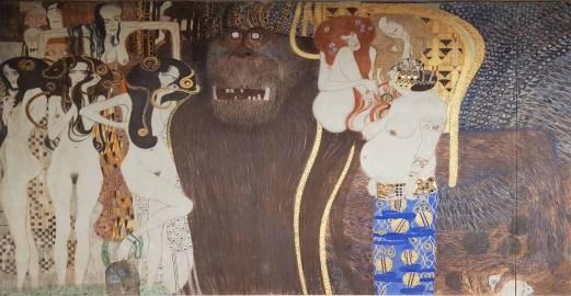 links: seine Töchter, über diesen Allegorien von Krankheit, Wahnsinn und Tod, rechts neben Typhoeus Versinnbildlichungen von Wollust, Unkeuschheit und Unmäßigkeit