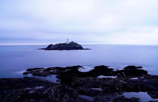 Godrevy Lighthouse zur blauen Stunde