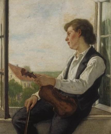 """""""Der Geiger am Fenster"""" - Otto Scholderer (1861)"""