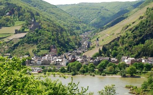 Rheinsteigwandern Blick auf den Rhein