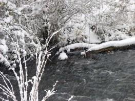 Schneeflußlandschaft