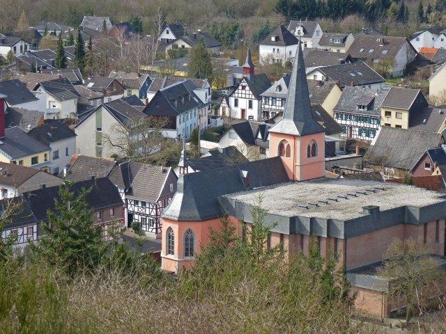 Blick auf Rheinbreitbach