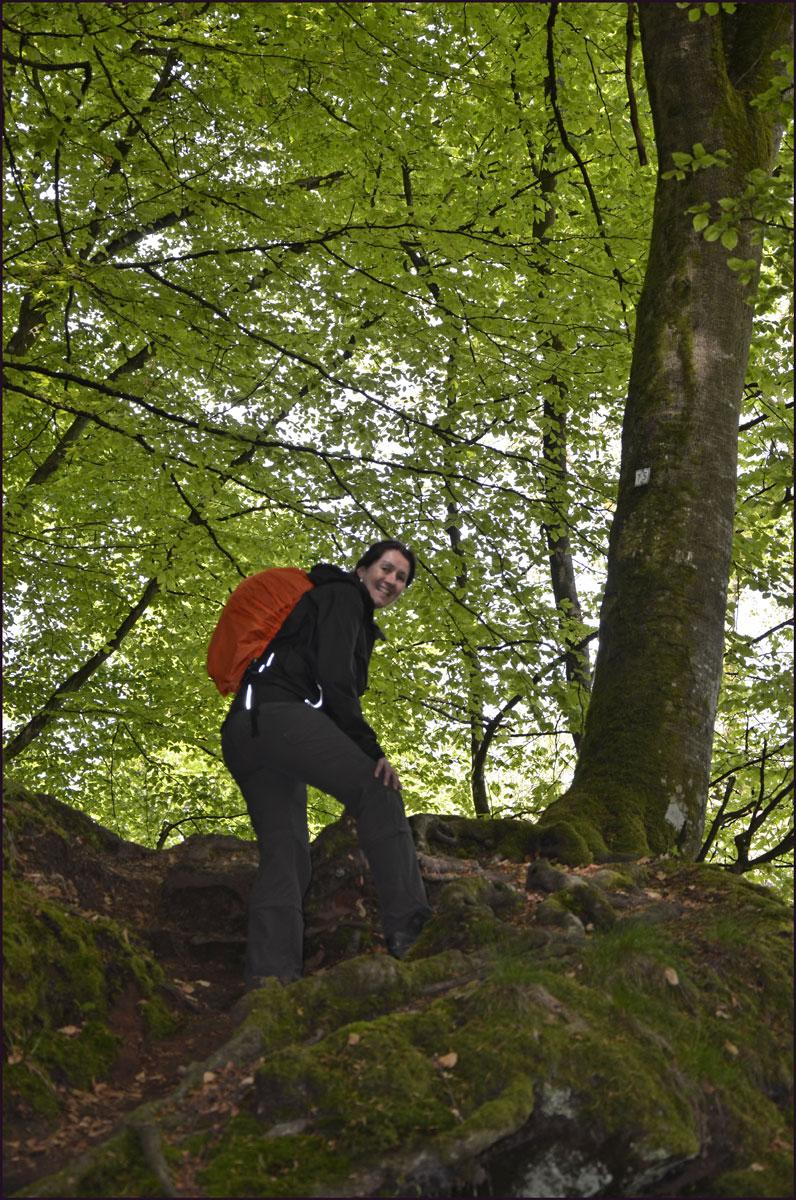 An den Höhlen gibt es einen Aufstieg zur Hochburg, ein Plateau mit einer tollen Aussicht ins Tal