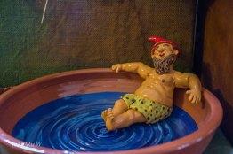 Gerhard in seiner Wasserschüssel