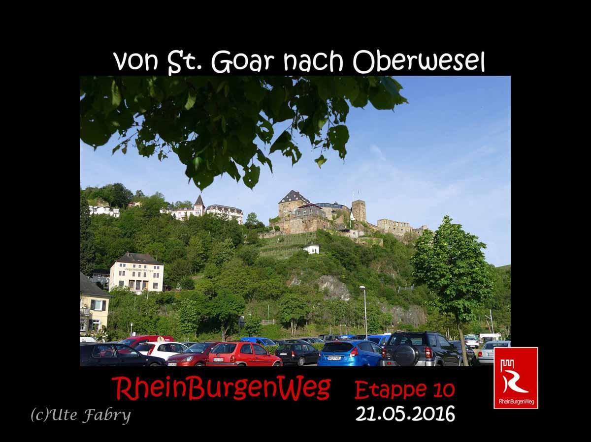 """Titelbild zu """"Im Frühtau zu Berge mit Ute"""" zeigt Burg Rheinfels"""