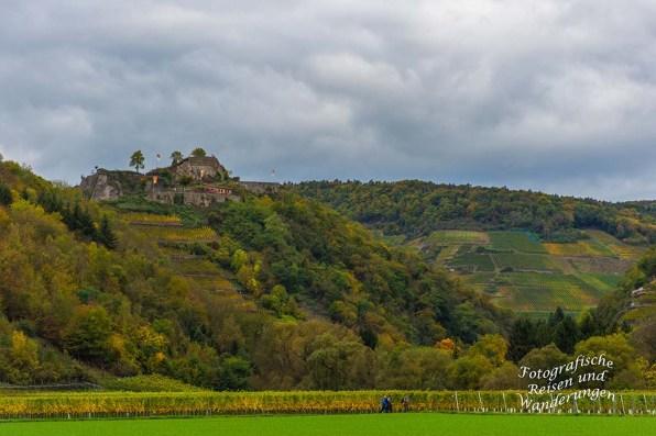 Ein Blick zurück zur Burgruine