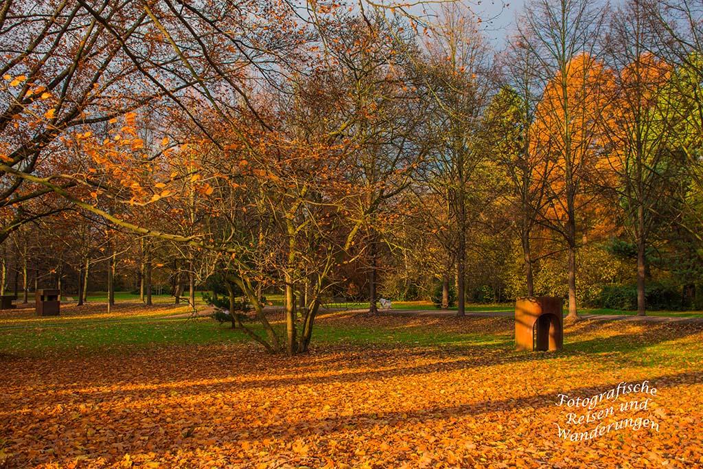 Parkanlage in der Herbstsonne