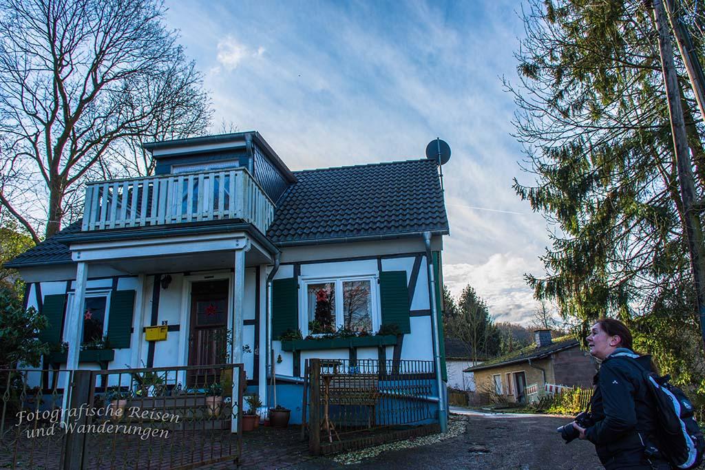 Hübsche Fachwerkhäuser entdecken wir in den Ortschaften