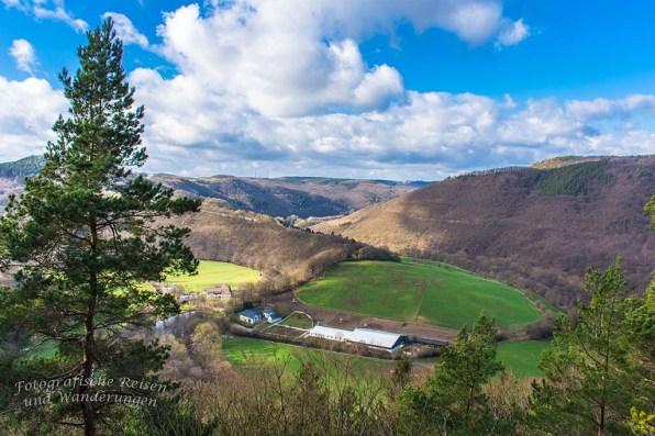 Ein herrlicher Blick ins Rurtal und die Eifellandschaft