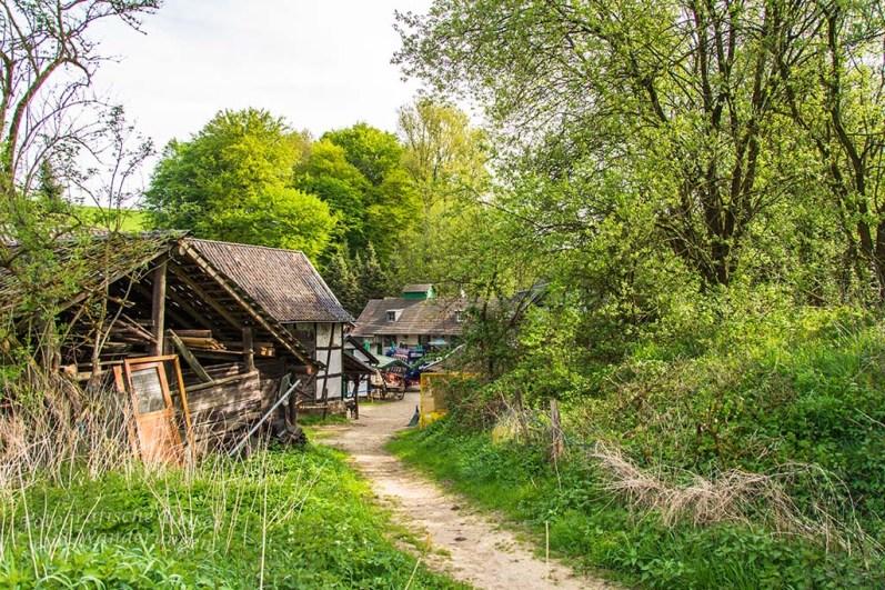 Blick zurück auf die Gammersbacher Mühle