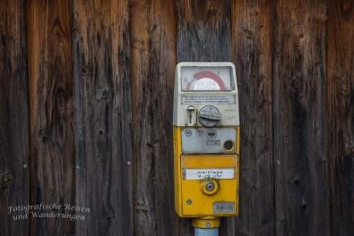 Nostalgische Parkuhr aus DM -Zeiten