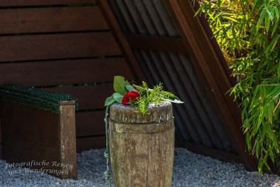 Eine Rose in Gedenken an die Gauklerdame, die im hohen Alter starb