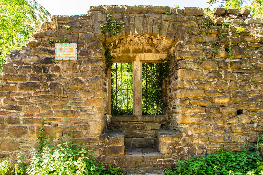 Ruine Neue Isenburg Fenster