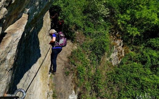Und ich hänge auch in den Seilen auf dem Klettersteig am Mittelrhein in Boppard
