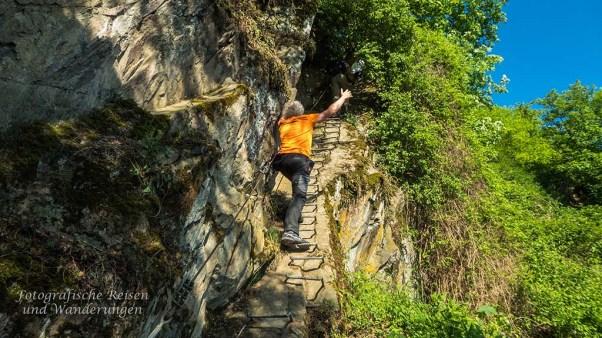 Klettersteig Mittelrhein : Oldies auf dem klettersteig am mittelrhein in boppard