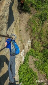 Johann klattert voraus - Klettersteig am Mittelrhein in Boppard