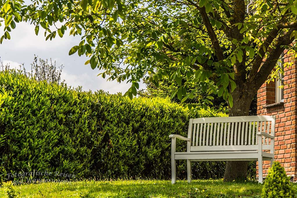 Spessart in der Eifel - Bank im Garten