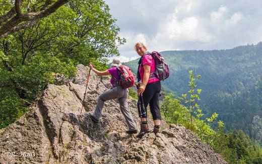 Karlsruher Grat- Oma auf dem Klettersteig