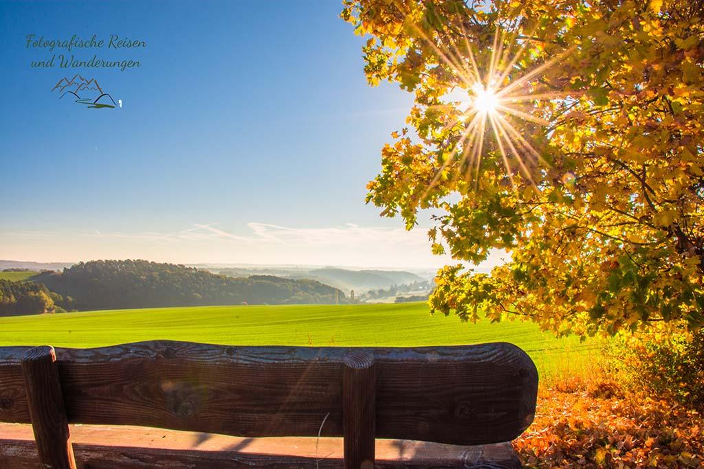 Sonnensterne im Foto