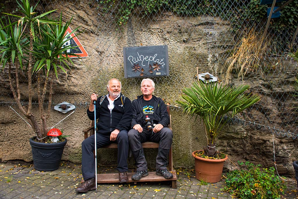 Ruheplatz für Männer, unterhalb Collis Klettersteig