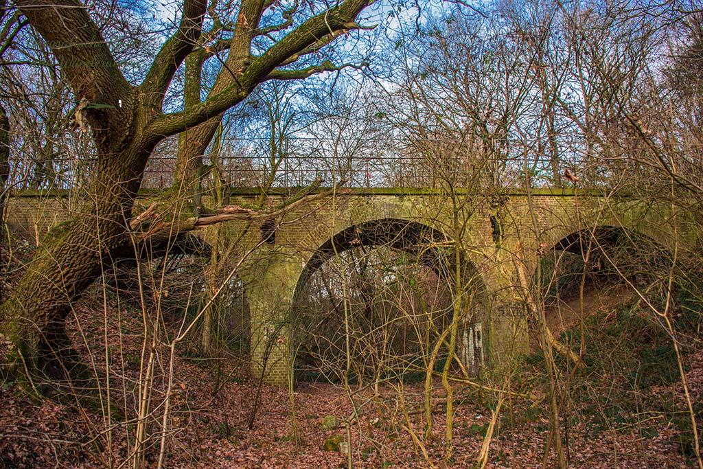 Ein altes Viadukt Würselen