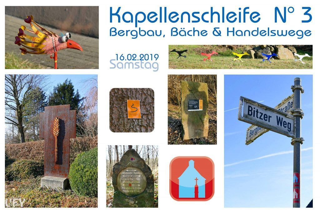 Bergbau- Bäche und Handelswege und das Schlossleuchten der Drachenburg