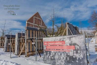Schulgebäude wird im Museum aufgebaut