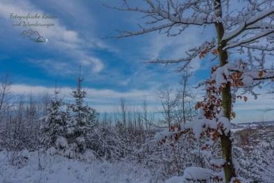 Herrlicher Blick in die Schneelandschaft