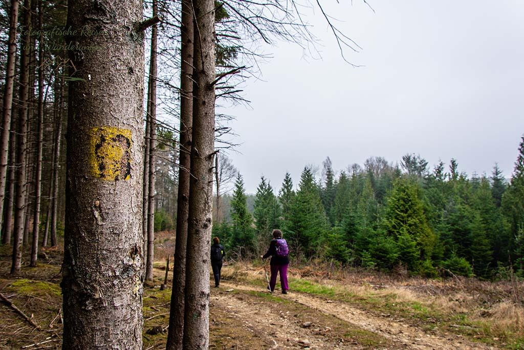 Verblasste Wegezeichen - Der Bergische Panoramasteig