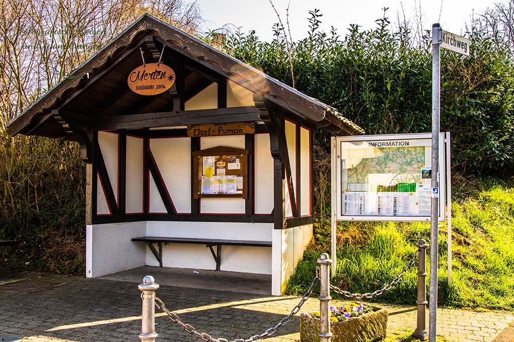 Auszeichnung Golddorf Merten in 2014 - Wandern bei Blankenberg an der Sieg