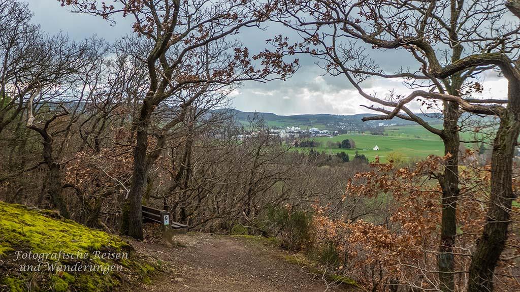 Schmaler Weg oberhalb Kreuzweingarten