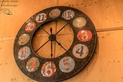 Sehr schöne Uhr in der WanderBar