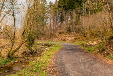 Übersichtlicher Weg Richtung Monschau
