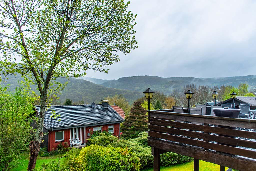 Blick aus dem Hotel Salzberg -Eifelsteig Wandern