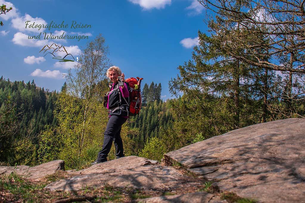 Selfie - Eifelsteig zwischen Monschau und Einruhr