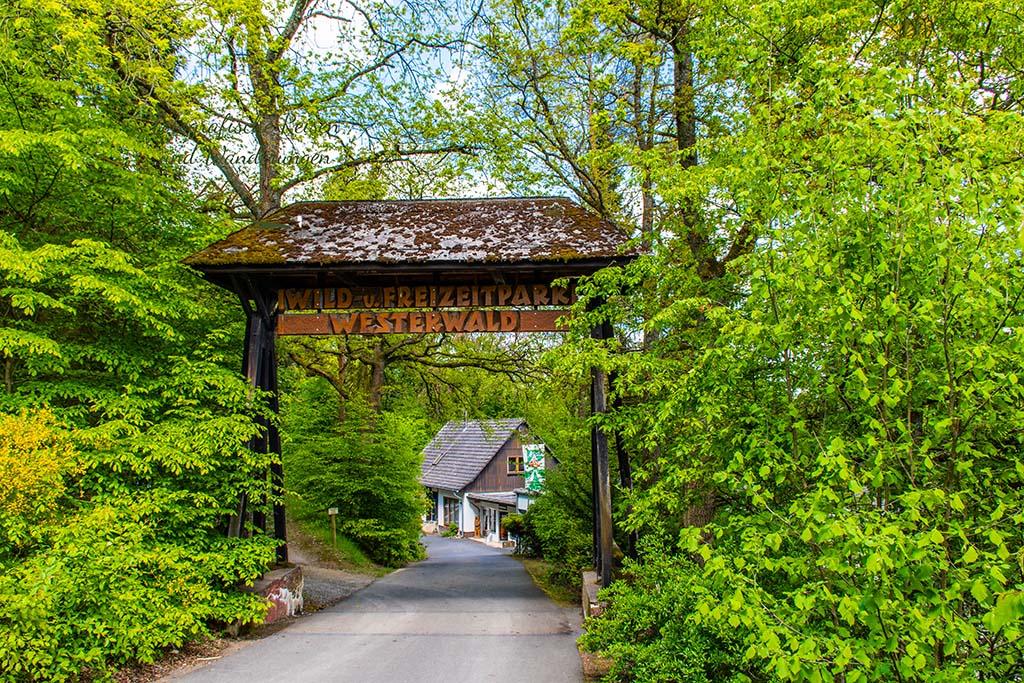 Eingang Wild- und Freizeitpark Westerwald