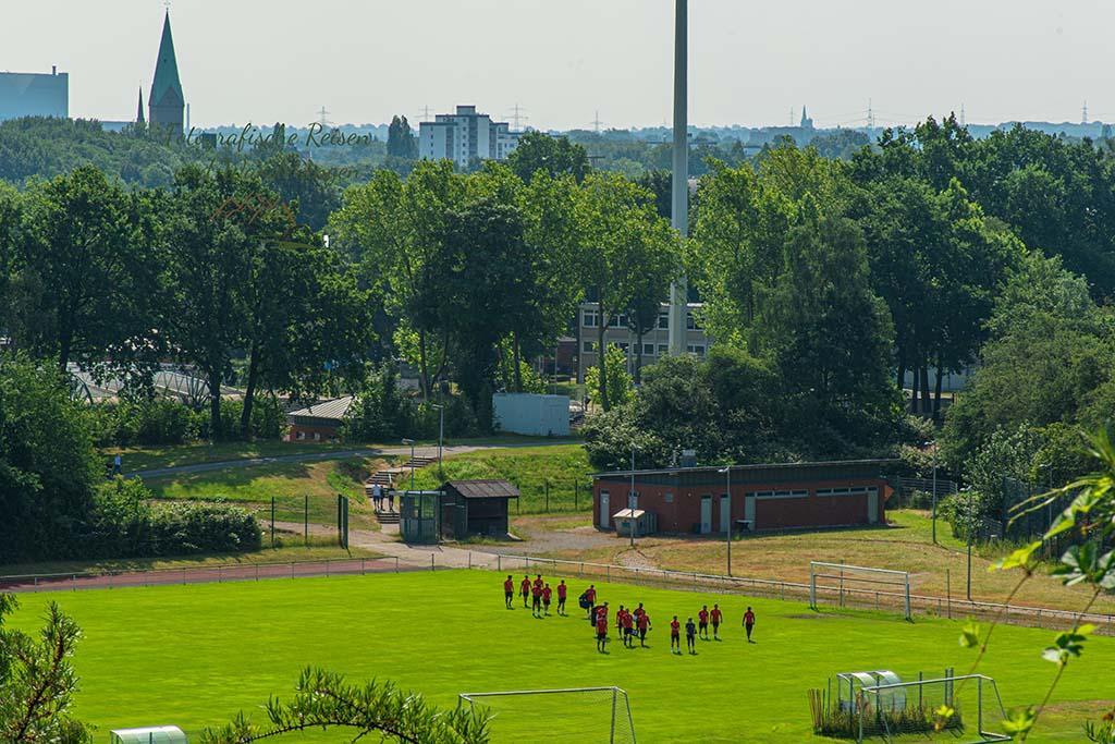 Blick auf die Veltins-Arena auf Schalke