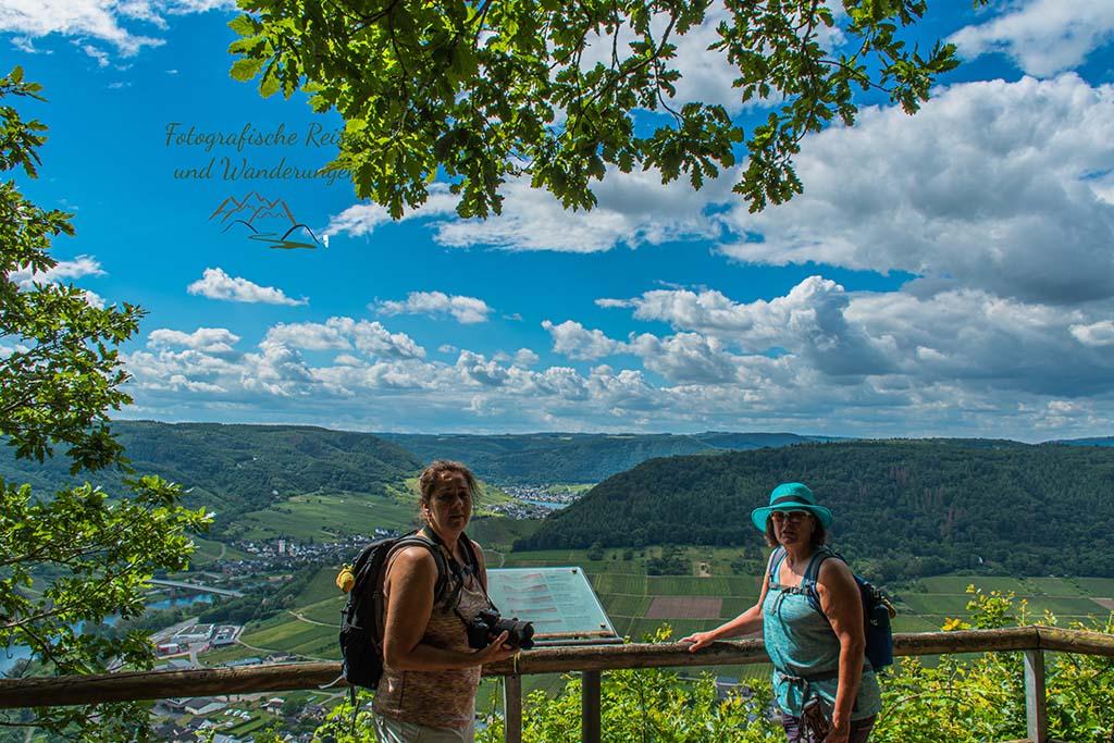 Tanja und Conny an der Mosel-Apollofalter an der Mosel