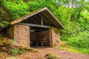 Die Fischerhütte auf dem Jahrhundertweg Monschau