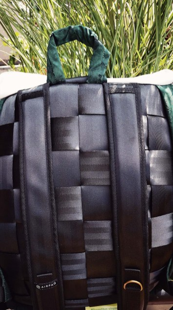 Rückseite des Airpaq Rucksack