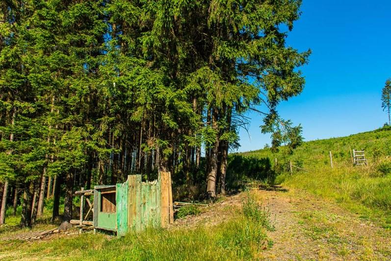 Wandern im Siegerland Angefressener Zaun