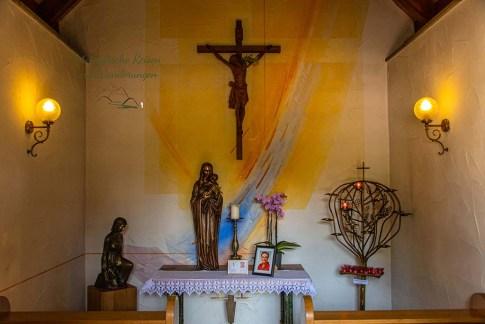 Das Innere der Marienkapelle in Caan