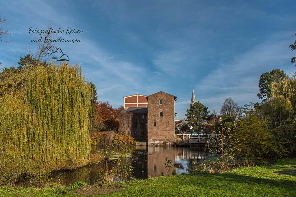 Blick zurück auf die Kamper Mühle