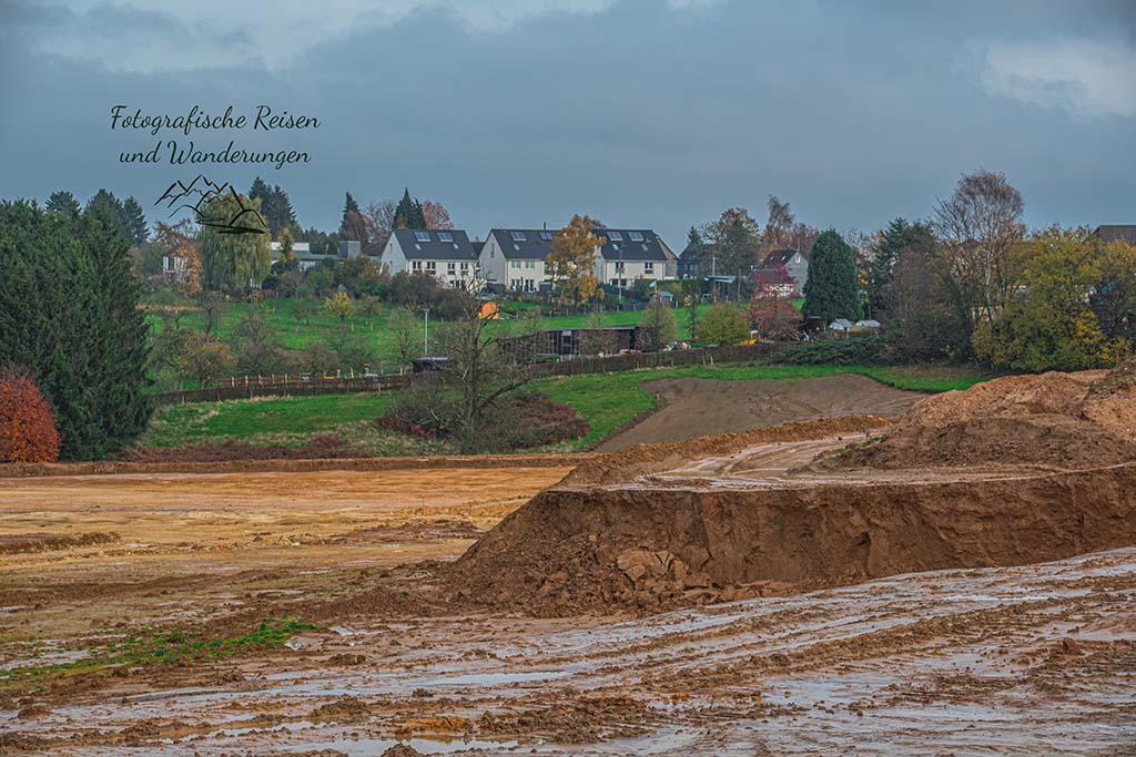 Baustelle oder Abbau von Sand?