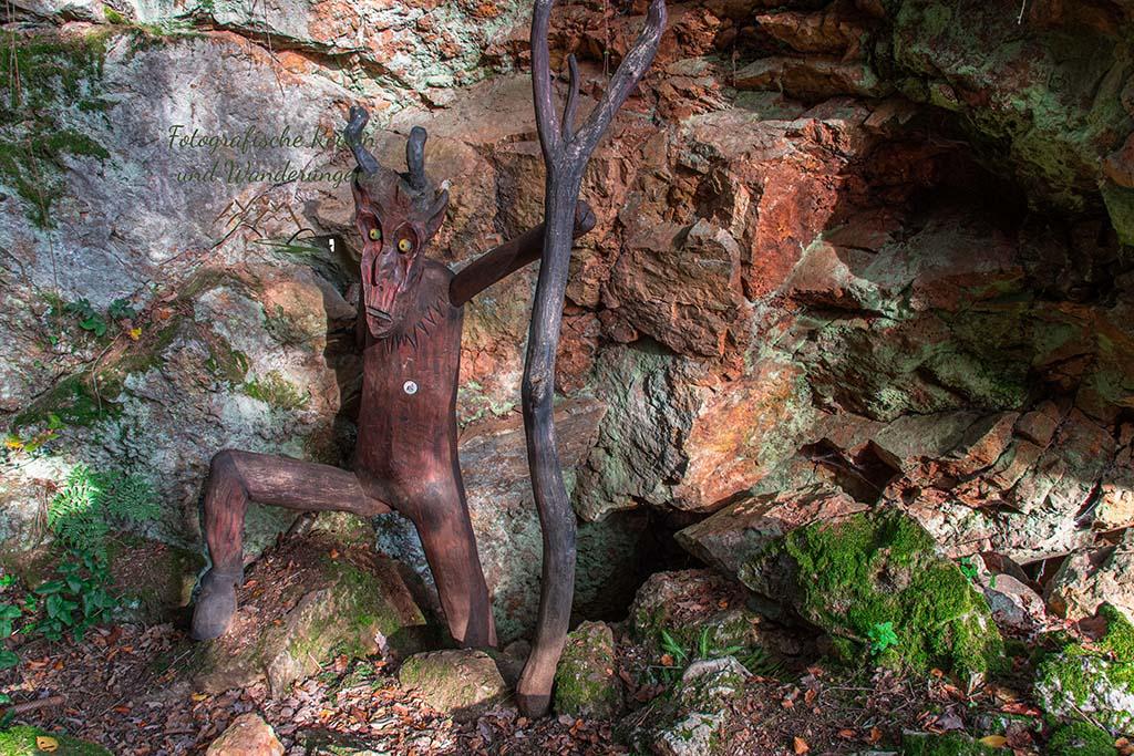 Der Teufel in der Teufelsschlucht in Nalbach