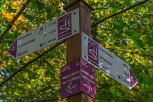 Traumschleife Litermond Gipfeltour - Startschild